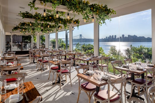 A beautiful view of the Hudson and New York City from De Novo in Edgewater.