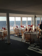 Dining in the Charlesworth Restaurant in Fortescue makes you feel as though you are aboard a cruise ship with the ocean up close and personal.