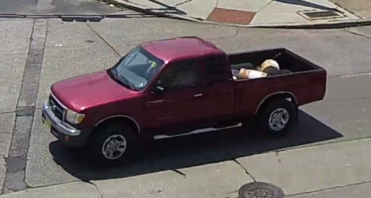 Police are seeking this vehicle in connection with a fatal hit-and-run accident in Camden.