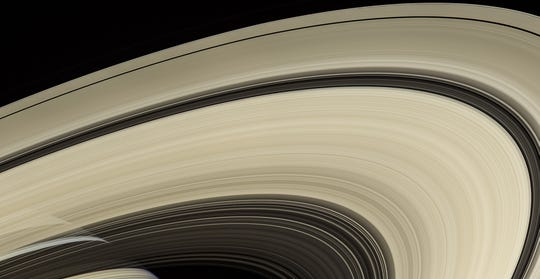 Saturn and rings courtesy of the Cassini spacecraft.
