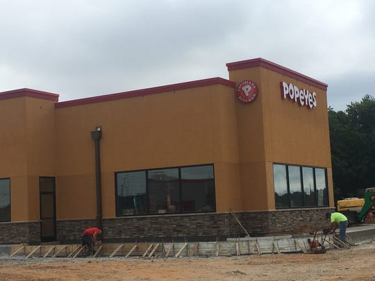 Construction is nearing completion on Popeye's near Exit 8.
