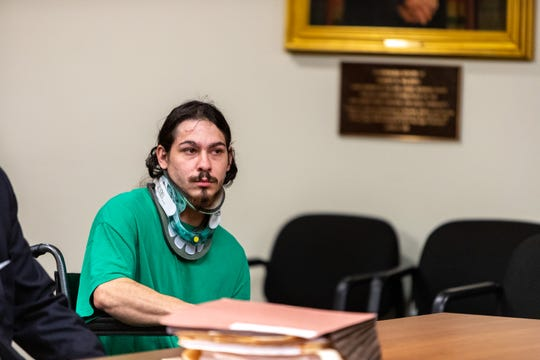 Tristan R. Rodriguez, of Old Bridge, at his first court appearance.