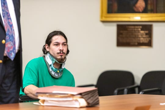 Tristan R. Rodriguez made his first court appearance Tuesday, three week after he was allegedly driving intoxicated causing a two-vehicle crash in the early morning hours on Englishtown Road in which two women died.