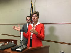 Gov. Kim Reynolds defends handling of Foxhoven ouster, claims she's been transparent