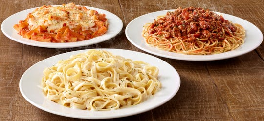 Olive Garden is offering up to five take-home meals for $5 each for dine-in customers.