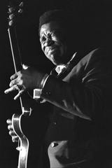BB King Performs at the 1969 Ann Arbor Blues Festival.