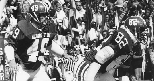 Dan Bass (49) made 543 career tackles at MSU, 68 more than the next most by a Spartan player.