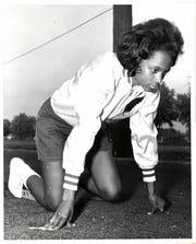 Karen Dennis won an AIWA national title as an MSU sprinter, then went on to coach the Spartans' women's track team.