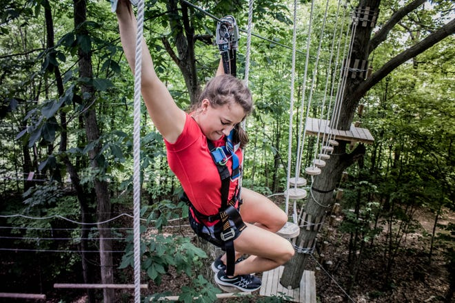 Tree Runner Adventure Park in West Bloomfield has trails for all skill levels.