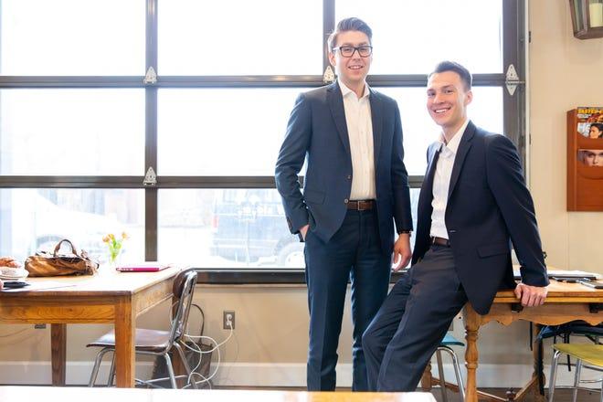 Grant Strobl, left, and Jacob Chludzinski of ThinkRight Strategies.