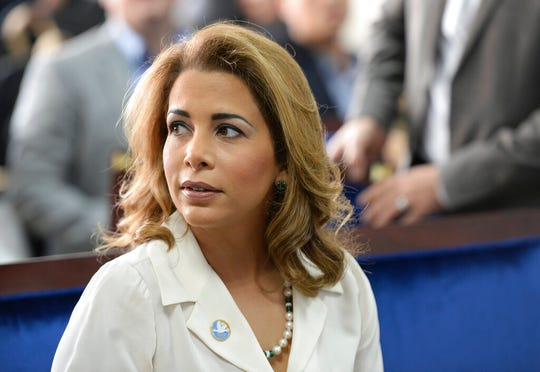 Princess Haya bint al-Hussein, the estranged wife of Dubai's ruler applied for protective orders in a British court Tuesday, July 30, 2019 using laws intended to safeguard victims of forced marriages and domestic abuse. Princess Haya, 45, requested a forced marriage protection order and a non-molestation order during a British High Court hearing centered on the welfare of her two children with Sheikh Mohammed bin Rashid Al Maktoum.