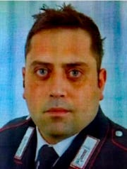 In this photo released by Carabinieri, is portrayed officer Mario Cerciello Rega, 35, who was stabbed to death in Rome early Friday, July 26, 2019.