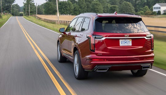 The three-row 2020 Cadillac XT6 is smaller than the giant, truck-based Caddy Escalade — yet still tows 4,000 pounds and can seat seven comfortably.