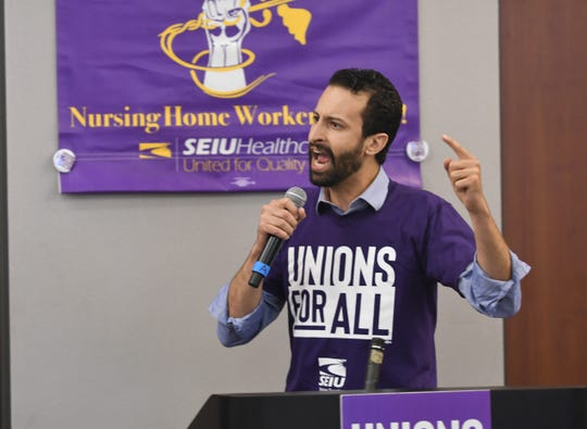 State Rep. Yousef Rabhi, who is the floor leader for the Michigan House Democratic caucus, announced Thursday he is endorsing U.S. Sen. Bernie Sanders for the Democratic presidential nomination.