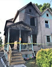 One person died when flames ripped through a house Monday evening on Matthew Street in Elmira.
