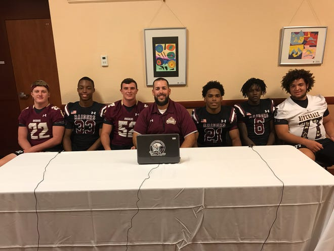 The Riverdale football team met the media at Day 2 of Lee County High School Football Media Days on Tuesday.