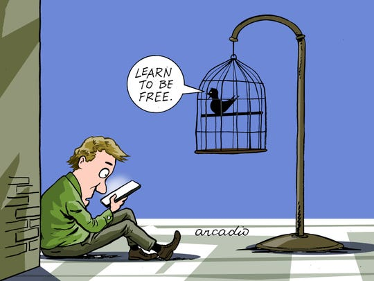 """Learn to be free"" of smartphones."