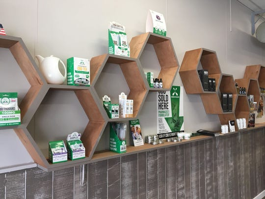 Many CBD products are on display at GreenHouse.