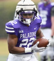 Furman's Devin Wynn (22) rushed for 722 yards with six touchdowns in 2019.