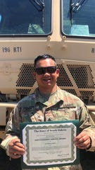 SGT Andrew Penafiel- South Dakota Distinguished Service Award.