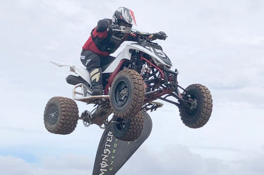 George Santos took the Open ATV overall win at Round 4 of the 2019 Monster Energy Guam Motocross Championships Sunday at the Guam International Raceway in Yigo.