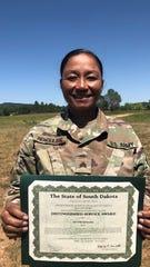 SGT Lynn Rengulbai - South Dakota Distinguished Service Award.
