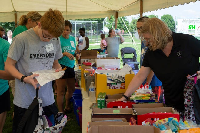 The North Liberty Unity Coalition and North Liberty Community Pantry hosted the first Back to School Bash in 2018.