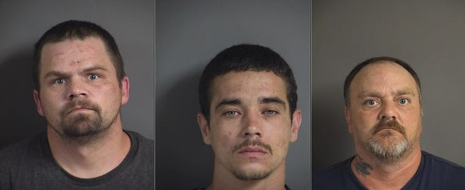 Adam Smith, Robert Chandler and Jerry Chandler face robbery charges after the Johnson County Sheriff's Office accused them of forcibly taking money from a victim on July 30, 2019 in Tiffin.