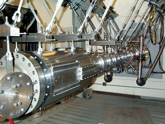 The Boeing/AFOSR Mach-6 quiet wind tunnel is used for hypersonic capabilities research at Purdue University.