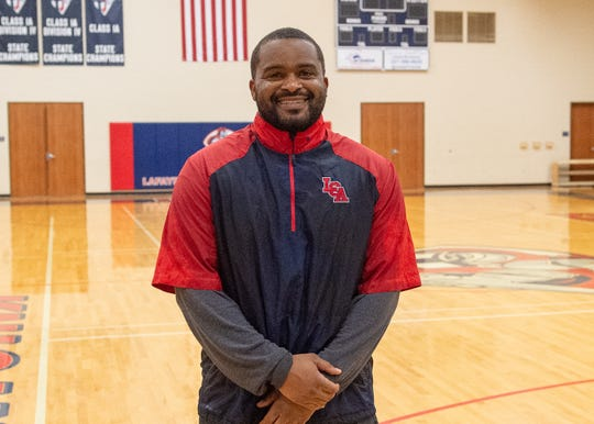 Coach Jacarde Carter- LCA Football.  Tuesday, July 30, 2019.