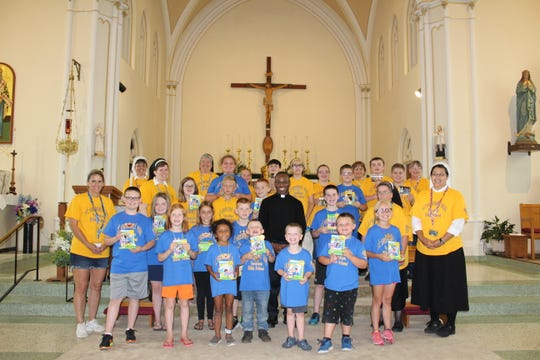 Participants in the 2019 Vacation Bible School at St. Gregory.