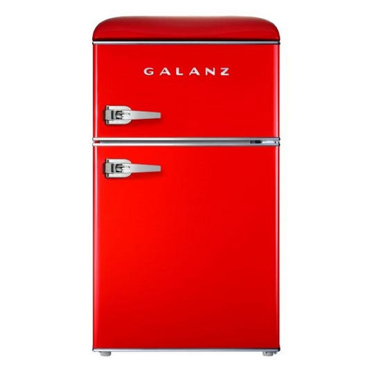 The Galanz Mini Fridge is stylish and functional for dorm rooms.
