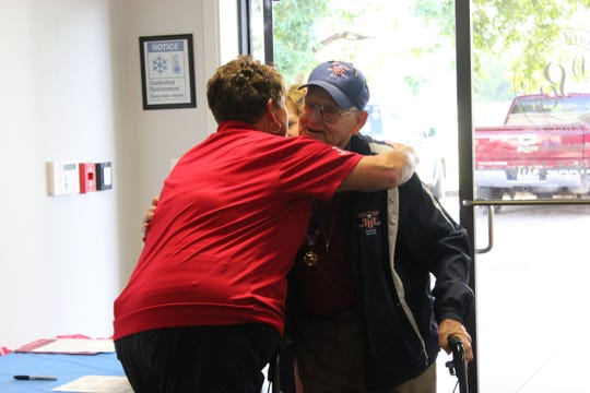 Approximately 100 veterans and their family members gathered July 26 at Desiard Plaza Centre in Monroe to reunite and celebrate Brookshire Grocery Co.'s 18th Heroes Flight to Washington, D.C.