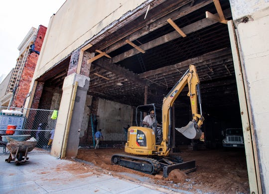 Renovation continues on the building at the corner of Dexter Ave. at Perry Street in Montgomery, Ala., on Tuesday July 30, 2019.