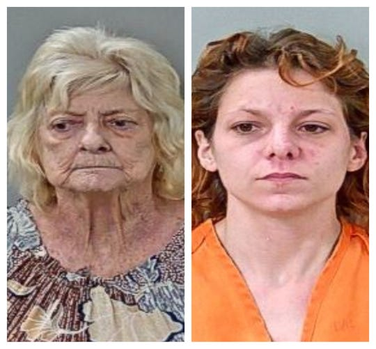 Grandmother Peggy O'Neal and her granddaughter Ashley Barner were charged in connection to a house fire.