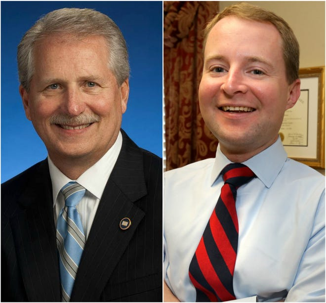 Rutherford County Mayor Bill Ketron, left, and Rutherford County Commissioner Robert Stevens, right