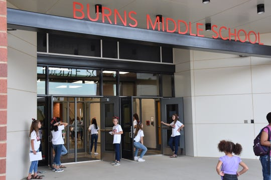 The first Burns Middle School open house was Monday night for the new school.