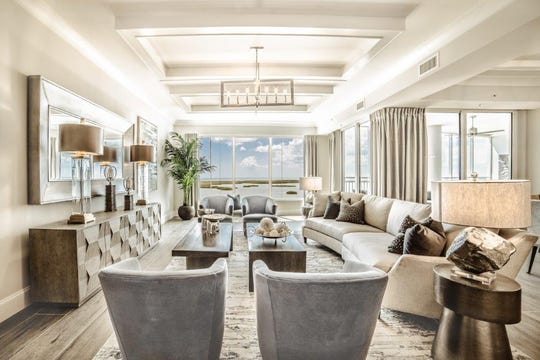 Baer's Furniture's Janet Graham, has created a casual yet sophisticated transitional design for the 1802 residence at the Seaglass high-rise tower.