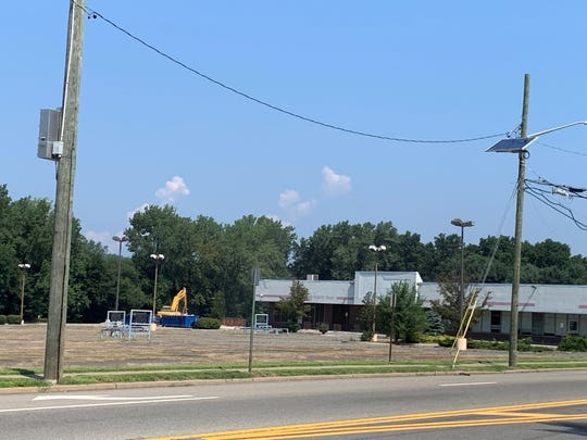 The site of the former Pathmark, which is now being redeveloped into a shopping center that will include a ShopRite.