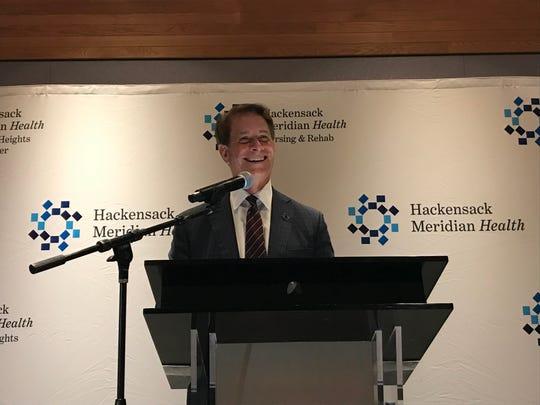 Hackensack Meridian Health CEO Bob Garrett announces a $60 million merger Tuesday.