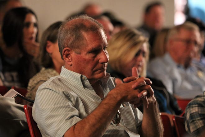 Sen. Steve Neville, R-Farmington, listens to public comments during a public meeting on methane emissions policies in this file photo.