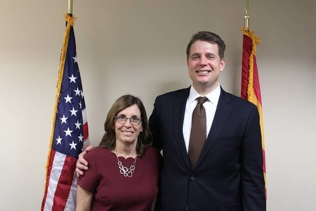 Sen. Martha McSally stands with newly confirmed U.S. District Court judge for the District of Arizona.