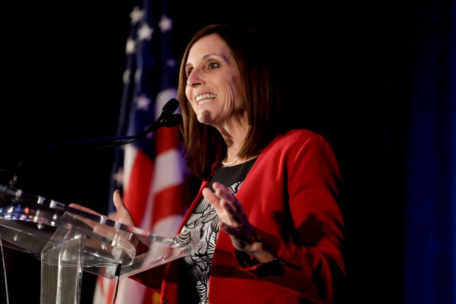 Sen. Martha McSally, R-Ariz., speaks during a luncheon at the Arizona Biltmore May 17, 2019, in Phoenix.