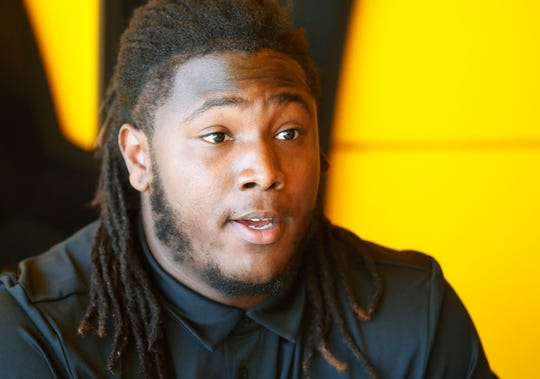 ASU's George Lea answers questions during media day at Sun Devil Stadium July 30, 2019.