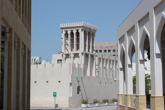 A wind tower on an historic building in Doha, Qatar.