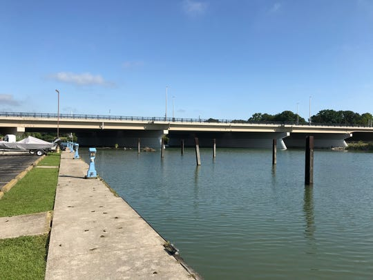 Emergency crews responded to the report of a sheen on the Black River outside the Bridge Harbor Marina in Port Huron Township on Tuesday, July 30, 2019, but officials said there was no cause for concern.
