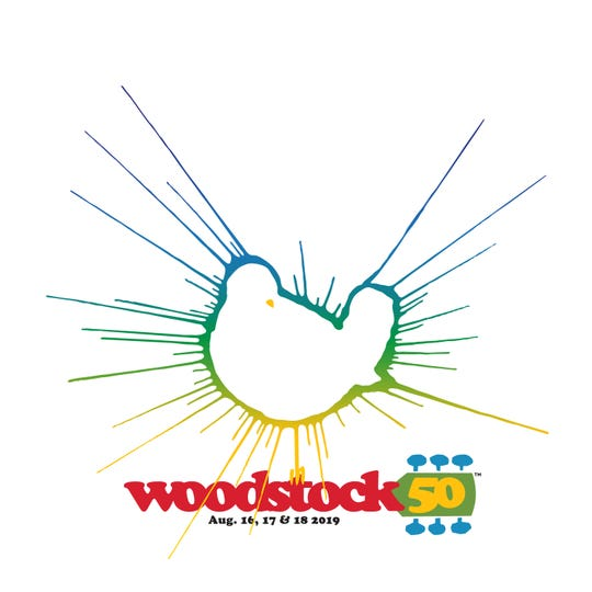 The Woodstock 50 logo