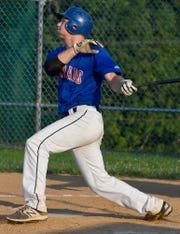 Ben Bills is shown here hitting for Conrads this summer in the Susquehanna League.