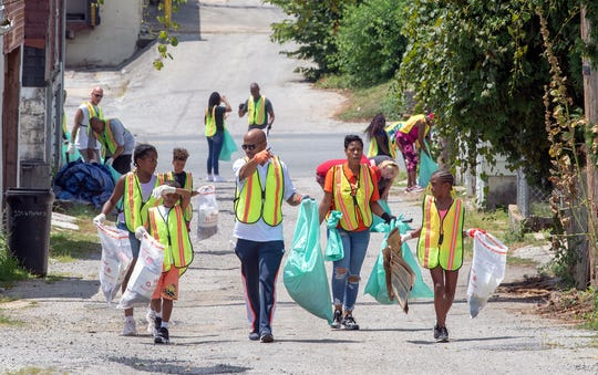 About 50 people came out to clean up the neighborhood around Shiloh Baptist Church. Hope Fest is a six-day roundup of events and initiatives that cater to and help the York community.