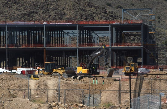 Construction of the new Google facility is seen off of USA Parkway east of Reno on July 30, 2019.